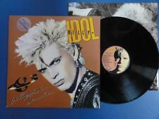 BILLY IDOL  WHIPLASH SMILE Chrysalis 86 A2B1 UK 1st pr LP MINT/EX + INNER