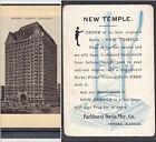 Tobacco Cutter Knife Chicago New Masonic Temple Parkhurst-Davis Topeka KS Card
