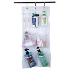 Mesh Shower Organizer Hanging Bathroom Caddy 8 Pockets Hang Curtain Rod