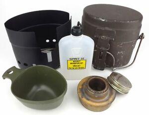 Original Swedish military STAINLESS STEEL TRANGIA mess kit with mug - FULL SET