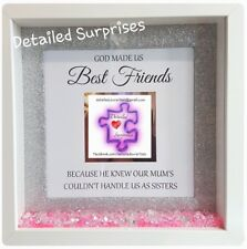 3D Handmade Personalised Box Frames With Photo Best Friend Sisters Gift