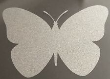 6 X glass safety Butterfly stickers