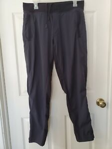 Lululemon Black Track Sweatpants Pocket Casual Lounge Sz L Large Mens