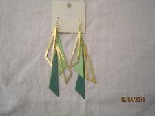 Green Triangle Drop Hook Earring By Mia