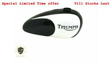 TRIUMPH T140 BLACK & WHITE PAINTED GAS FUEL TANK WITH CAP|Fit For