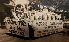 ANTIQUE VINTAGE RACINE TIRES WI DOLLAR BILLS CURRENCY AMERICAN FLAGS RPPC PHOTO