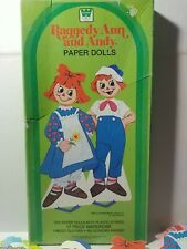 Raggedy Ann and Andy Paper Dolls-1982-Whitman-Childr en's