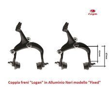 """Coppia Freni a Ganascia """"Logan"""" in Alluminio Nero per Bici 26-28 Tipo Condorino"""