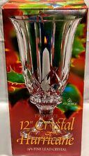 MIB St George 24% Lead Crystal Hurricane 2 Piece Candle Holder Vase