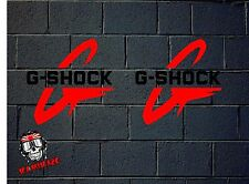 PEGATINA STICKER  ADESIVI AUFKLEBER DECAL 2 X  G-SHOCK G SHOCK
