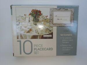 "Malden - 10 Piece Placecard Set 3.25"" x 2.5"" (Silver Finish) New"