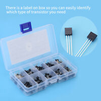 200pcs 10 Values BC327-BC558 TO-92 Transistor Assortment NPN PNP DIY Kit Box GB