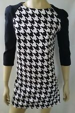WHITE CLOSET ladies size 12 dress stretch houndstooth mini