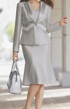 Midnight Velvet Formal Dress Sleek Silver Suit Career Church Size 16