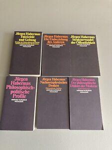 Jürgen Habermas Paket 6 Bände, Sehr gut erhalten