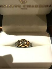 Philippe Charriol 18k Yellow Gold Stainless Steel Ring Size 6