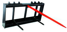 "Titan Hd Frame, 43"" Tractor Hay Spear & 2 Stabilizers Skid Steer 4000lb capacity"