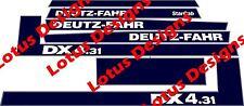 deutz fahr DX4.31 stickers / decals