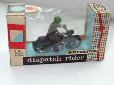 britains DISPATCH RIDER ON MOTORCYCLE - 9698 mint  boxed