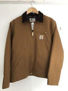 Mens Carhartt Detroit Medium Jacket in Hamilton Brown.