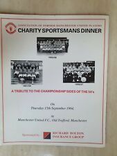 More details for manchester united charity sportsmans dinnner - a tribute to the 1950's champions