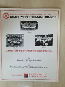 MANCHESTER UNITED CHARITY SPORTSMANS DINNNER - A TRIBUTE TO THE 1950'S CHAMPIONS