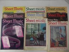 Sheet Music Magazines (9 LOT) Easy Play Issues 1989 - 1994