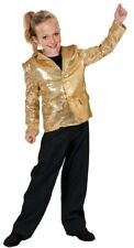 Disco Jacket Gold Child Costume Lined Sequin 60s 70s Halloween