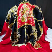 TOP Italian fashion brand pure mulberry silk twill fabric. 110 x 115cm. Defect