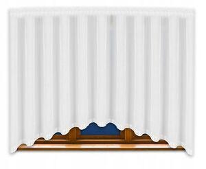 Fertiggardine LB-165 Gardine aus Voile Fenstergardine Bogen 150x400 cm Wohzimmer