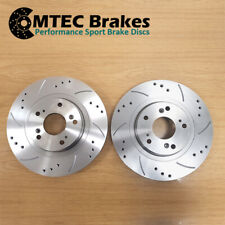XE XF 2.0 E PACE 2.0 FOR JAGUAR 2015- REAR DRILLED GROOVED BRAKE DISCS 300mm