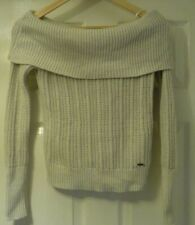 Hollister Off The Shoulder Cream Jumper (Size: Small)