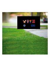 """Vote 2020 Biden Harris White 18"""" x 24"""" Yard Lawn Sign with Stand."""