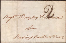 1839 ENTIRE 2d CHARGE MARK TO LONDON