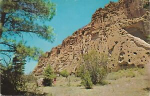 Los Alamos, NM - Bandelier National Monument - Volcanic Tuff Cliffs - 1965