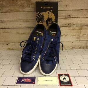 JoJo's Bizarre Adventure Collaboration Converse men's Sneakers 27cm Blue Rare