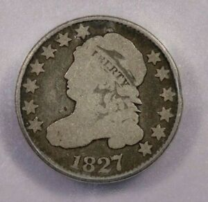 1827-P 1827 Capped Bust Dime 10C ICG AG3