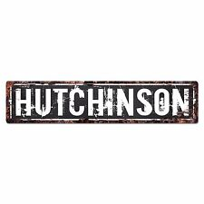 SLND0649 HUTCHINSON Street Chic Sign Home man cave Decor Gift Ideas