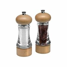 Cole & Mason Classic Salt and Pepper Mills Beech Acrylic Mill Grinder Set 2-Pack