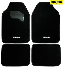 ⭐ Momo Car Floor Mats Black 4pc Set Carpet for Car SUV Auto Truck SUV Full Set ⭐