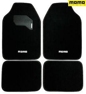 ⭐ Momo Car Floor Mats Black 4pc Set Carpet for Car SUV Auto Truck SUV Full Set ⭐