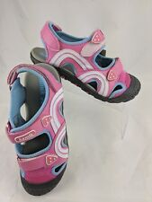 Kamik Girl Youth Sandals 6 Seaturtle Pink Faux Leather Sport Hiking Water NEW