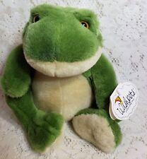 "Wishpets Plush Frog Prince Stuffed Animal Toy Vintage 1998 Green 8"""