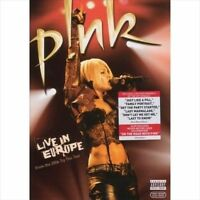 P!NK PINK Live In Europe DVD BRAND NEW PAL Region 0