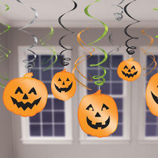 12 x Halloween Pumpkin HANGING SWIRLS Bumper Value Pack
