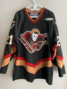 Signed Fredrik Sjostrom Authentic Calgary Hitmen Bauer Hockey Jersey Size 52