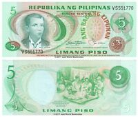 Philippines 5 Piso 1978 P-160b Banknotes UNC