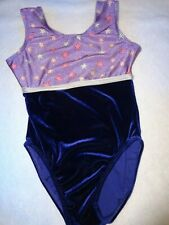 Destira Leotard Purple Stars Velvet Child Large