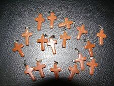 Goldstone Cross  20mm Healing Crystal Gemstone Pendant Birthday Gift