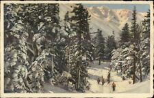 Skiing White Mountains NH Old Postcard Pinkham Notch Boott Spur Crags #2